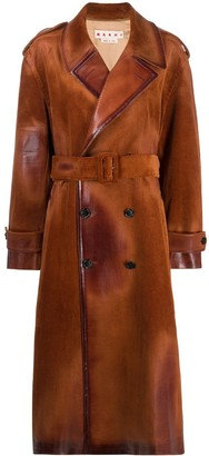 Marni Corduroy Double-Breasted Trench Coat
