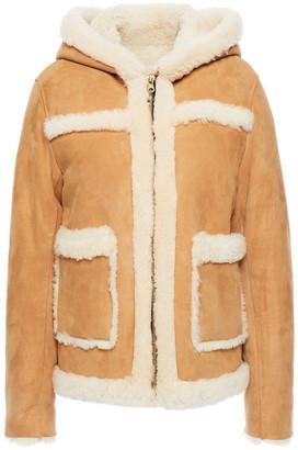 Sandro Shearling Hooded Jacket