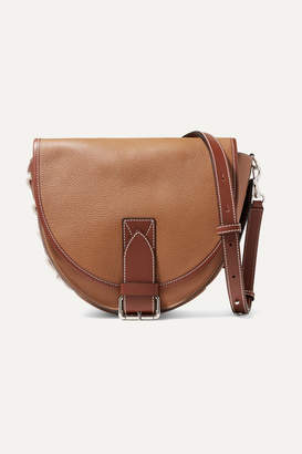 J.W.Anderson Bike Lace-up Smooth And Textured-leather Shoulder Bag - Tan