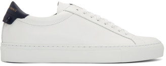 Givenchy White and Navy Urban Knots Sneakers