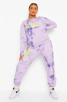 boohoo Plus Acid Tie Dye Worldwide Joggers