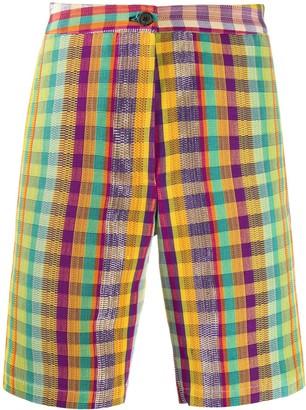 Kenneth Ize Plaid Check Shorts