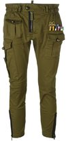 DSQUARED2 'Golden Arrow' cropped military trousers