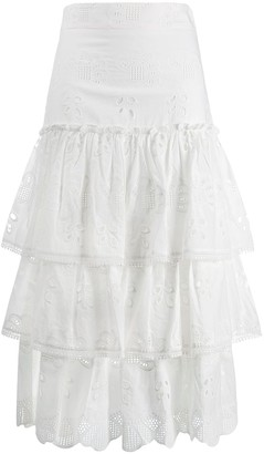 Alexis Broderie Anglaise ruffed skirt