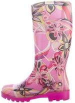 Emilio Pucci Printed Rain Boots