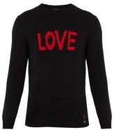 Fendi Love-jacquard Wool Sweater