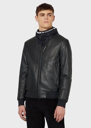 Emporio Armani Reversible Semi-Aniline Lambskin Nappa Leather Jacket