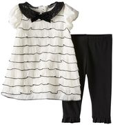 Nannette Baby Girl Tiered Ruffle Piping Dress & Leggings Set