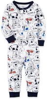 Carter's Dog Zip-Front Pajama in White