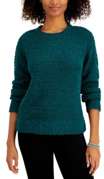 Style&Co. Style & Co Teddy Boucle Sweater, Regular & Petite, Created for Macy's