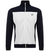 Fred Perry Embroidered Track Top Navy