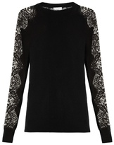 Raey Lace-sleeve cashmere sweater