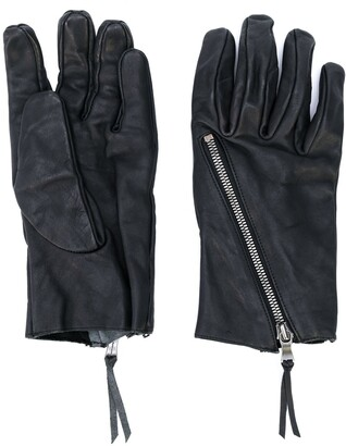 The Viridi-anne Zip Detail Textured Gloves