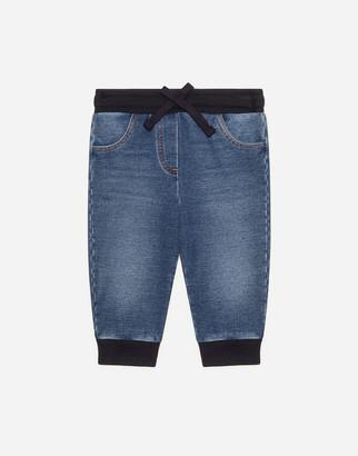 Dolce & Gabbana Jersey And Denim Jogging Pants