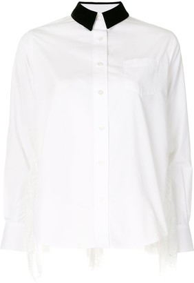 Sacai Sheer Panel Shirt