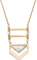 White House Black Market Howlite Tassel Drop Necklace