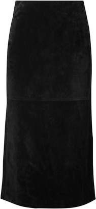Saint Laurent Suede Midi Skirt