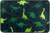 bitt Colorful Dinosaurs On The Abstract Doormat Indoor/Outdoor Washable Garden Office Door Mat,Kitchen Dining Living Hallway Bathroom Pet Entry Rugs with Non Slip Backing 23.6 X 15.7 inch