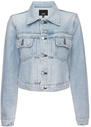 Hudson Lola Cropped Denim Trucker Jacket