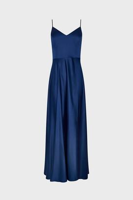 Coast Satin Flared Wrap Maxi Dress