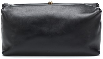 Jil Sander Goji leather clutch