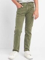 Gap High stretch olive slim jeans