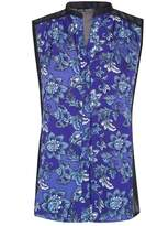 Select Fashion Fashion Womens Blue Floaty Floral Block Shirt - size 6