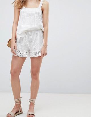 Asos DESIGN shorts in summer cotton broderie