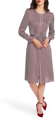 Court & Rowe Crosby Stripe Long Sleeve Shirtdress