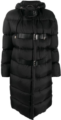 Ermanno Scervino Buckled Hooded Puffer Coat