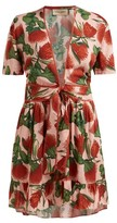 Adriana Degreas Fiore Floral-print Mini Dress - Womens - Pink Print