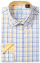 English Laundry Plaid Trim Fit Dress Shirt