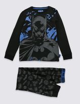 Marks and Spencer Cotton Rich BatmanTM Pyjamas (6-16 Years)