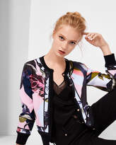 Ted Baker Mississippi woven bomber style cardigan
