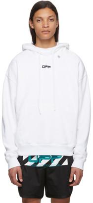 Off-White Off White White Wavy Logo Hoodie