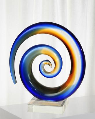 Dale Tiffany Mystification Art Glass Sculpture