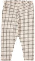Tiny Cottons Grid-Pattern Stretch Pima Cotton Leggings-CREAM, BLACK, NO COLOR