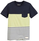 Tailor Vintage Color Blocked Stripe Jersey Tee (Little Boys & Big Boys)