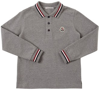 Moncler Logo L/s Cotton Piquet Polo