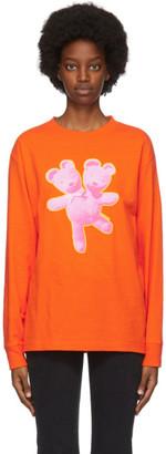Marc Jacobs Orange Heaven by Double-Headed Teddy Long Sleeve T-Shirt