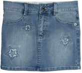 Zadig & Voltaire Embroidered Stretch Cotton Denim Skirt