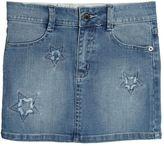 Zadig & Voltaire Zadig&voltaire Embroidered Stretch Cotton Denim Skirt