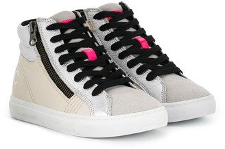 Crime London Kids lace-up high top sneakers