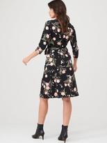 Wallis Pretty Tulip Jersey Wrap Dress - Black