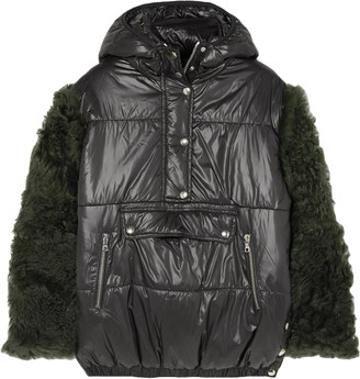 Sandy Liang Gordo Shearling-paneled Quilted Shell Jacket