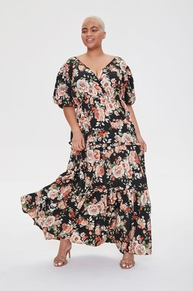 Forever 21 Plus Size Floral Tiered Maxi Dress