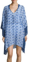 Michael Kors Printed Chiffon Cover-Up Dress