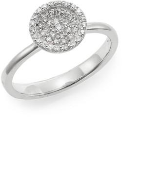 Effy Diamond & 14K White Gold Disc Ring