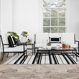 Williams-Sonoma Williams Sonoma Strata Stripe Indoor/Outdoor Rug, Black