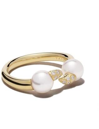 TASAKI 18kt yellow gold Danger Fang diamond ring